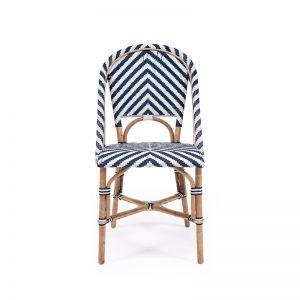 Sorrento Side Chair | Navy Chevron