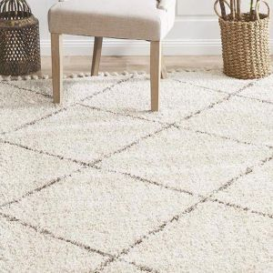 Souk Moroccan Rug | Beige & Off White Mix + Warm Grey Diamond - BACK IN STOCK