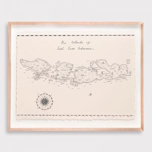 South East Indonesia Map Illustration by Adrianne Design | Print