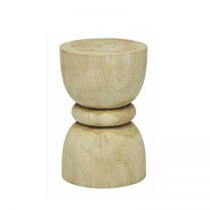 Southport Diablo stool | Washed Teak | Pre Order