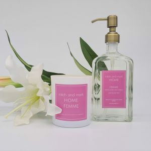 Spa Bundle for a limited time only | FEMME Essential Oil Candle and Handwash | SIGNED BY MITCH AND M