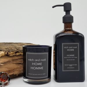 Spa Bundle for a limited time only | HOMME Essential Oil Candle and Handwash | SIGNED BY MITCH AND M