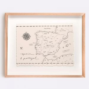 Spain & Portugal Map Illustration | Print by Adrianne Design