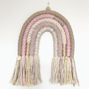 Sparkly Pink Lemonade | Handmade Rope Rainbow Wallhanging