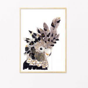 Spirit Bird | Art Print by Grotti Lotti