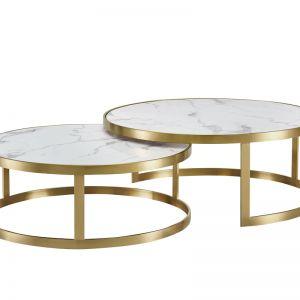 Splendour Coffee Table Set | White Marble