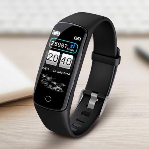 Sport Monitor Wrist Touch Fitness Tracker Smart Watch Black