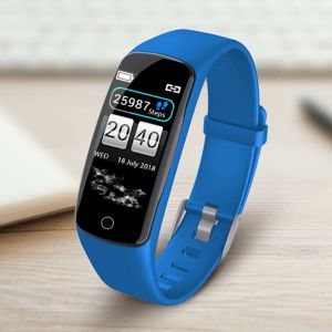 Sport Monitor Wrist Touch Fitness Tracker Smart Watch Blue