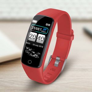 Sport Monitor Wrist Touch Fitness Tracker Smart Watch Red