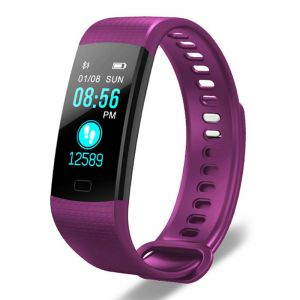 Sport Smart Watch Health Fitness Wrist Band Bracelet Activity Tracker Purple