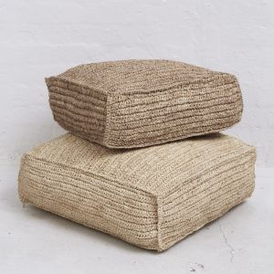 Square Seagrass Floor Cushions l Natural
