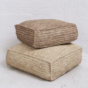 Square Seagrass Floor Cushions l Natural l Pre Order