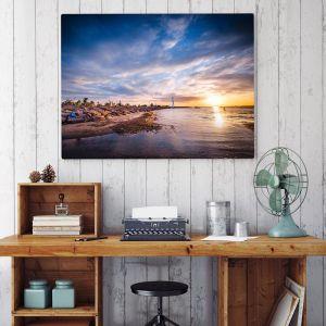 St.Kilda Beach Lighthouse Sunset | Photographic Print & Canvas