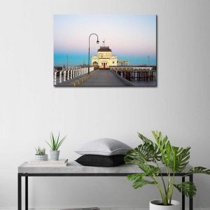 St Kilda Pier | Canvas Print By United Interiors