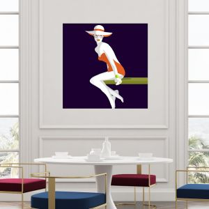 St Tropez | Canvas Wall Art by Hoxton Art House