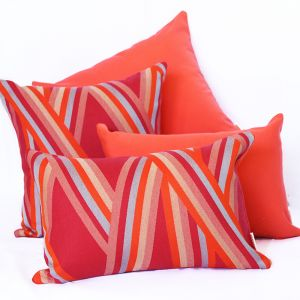 St Tropez Coral | Sunbrella Fade and Water Resistant Outdoor Cushion | Outdoor Interiors