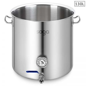 Stainless Steel 130L No Lid Brewery Pot with Beer Valve