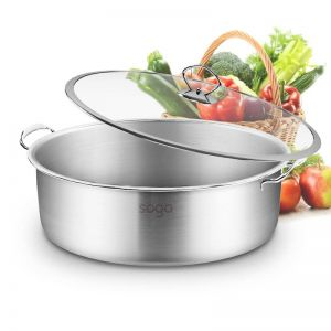 Stainless Steel 32cm Casserole With Lid Induction Cookware
