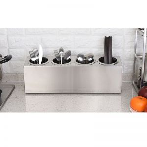 Stainless Steel Conical Utensil & Cutlery Holder | 4 Holes