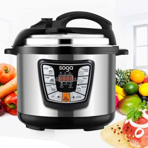 Stainless Steel Electric Pressure Cooker 10L Nonstick 1600W