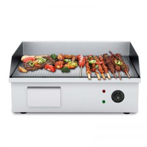 Stainless Steel Ribbed BBQ Hot Plate | 2200W | 56*48*23cm