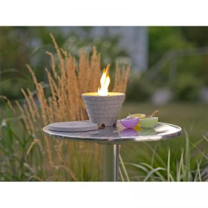 Stainless Steel Stand for Round Outdoor Waxburners | by DENK Ceramics