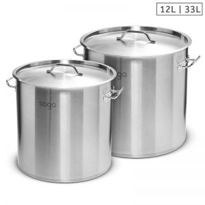 Stainless Steel Stockpot   12L and 33L