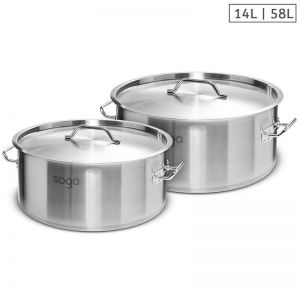 Stainless Steel Stockpots | 14L and 58L