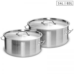 Stainless Steel Stockpots   14L and 83L