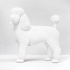 Standing Resin Poodle | White