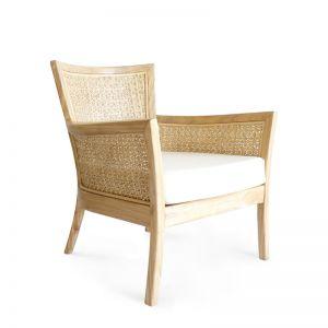 Star Weave Hampton Club Chair   Natural   by Black Mango