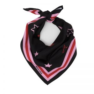 Stars Dog Scarf | Pink and Red