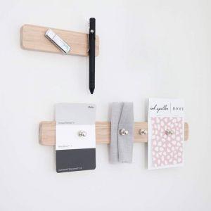 Stationary Organiser   Wooden Magnetic Wall Organiser