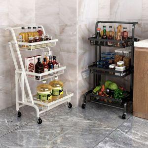 Steel Black Adjustable Kitchen Cart | 3 Tier