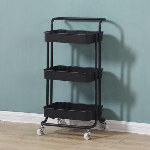 Steel Black Kitchen Cart Organiser | 3 Tier