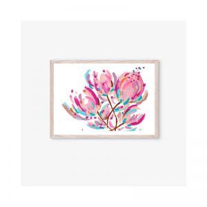 Stef Protea Bouquet Fine Art Print | Unframed