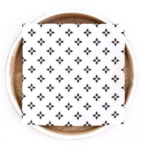 Stella Pattern Paper Napkins   Compostable 3 Ply