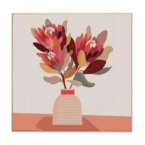 Still Vase Protea | Boxed Canvas Print