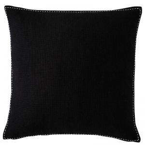 Stitch Cushion | Large | Black with White Stitch