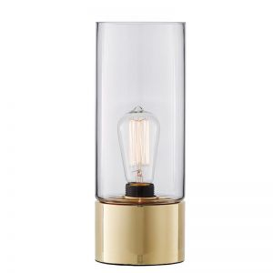 Stoic 1 Light Table lamp in Brass/Clear | By Beacon Lighting