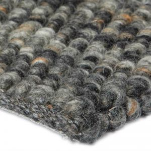 Stones Wool Rug | Charcoal by Rug Addiction