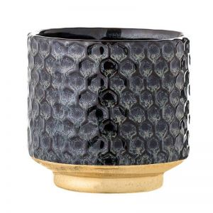 Stoneware Flowerpot   Blue   Trit House