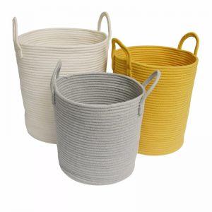 Storage Baskets   White - Medium