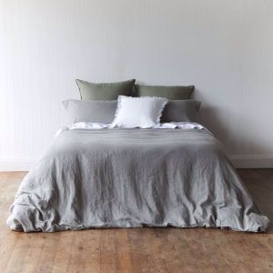 Storm Grey Quilt Cover Set | Various Sizes