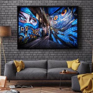 Street Art Croft Alley | Graffiti Owl and Ninja | Limited Edition Photographic Print or Canvas