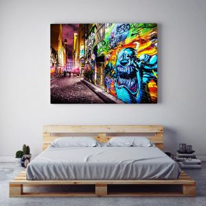 Street Art Laneway I Hosier Lane Monsters Inc | Limited Edition Photographic Print or Canvas