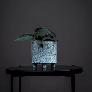 Striking Speckled Blue Pot