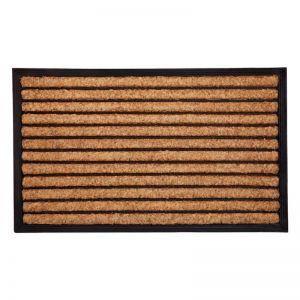 Stripes Rubber Bordered Coir Door Mat | Welcome Mat | Entry Mat | Fab Habitat