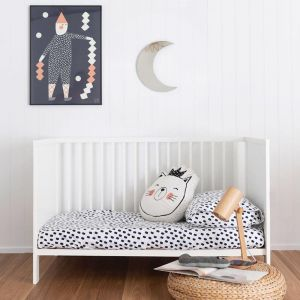 Stroke Of Luck   Cot Sheet   Blossom or Night Sky   More Than Ever