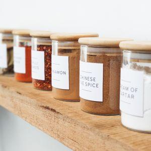 Stylish Minimalist Spice Label Set